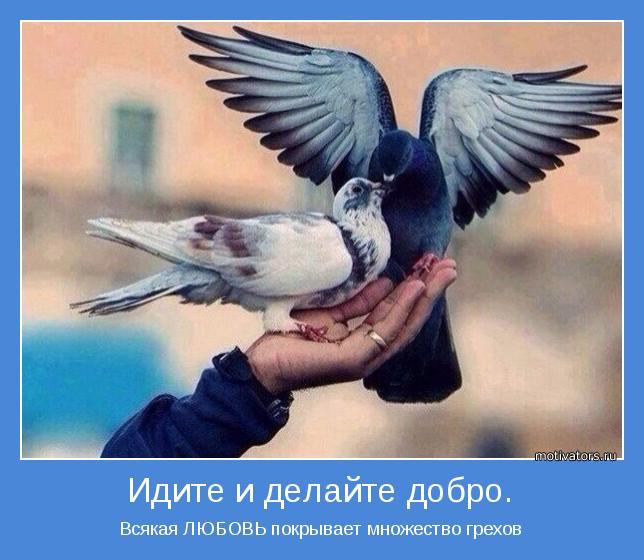 Всякая ЛЮБОВЬ покрывает множество грехов