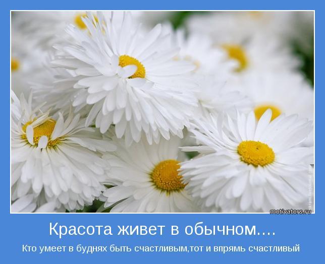 Кто умеет в буднях быть счастливым,тот и впрямь счастливый