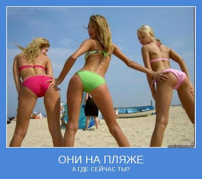 Попочки на пляже