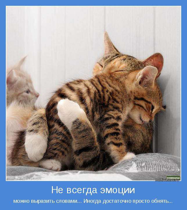можно выразить словами... Иногда достаточно просто обнять...