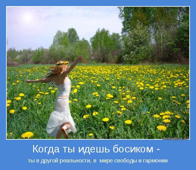 ты в другой реальности, в  мире свободы и гармонии