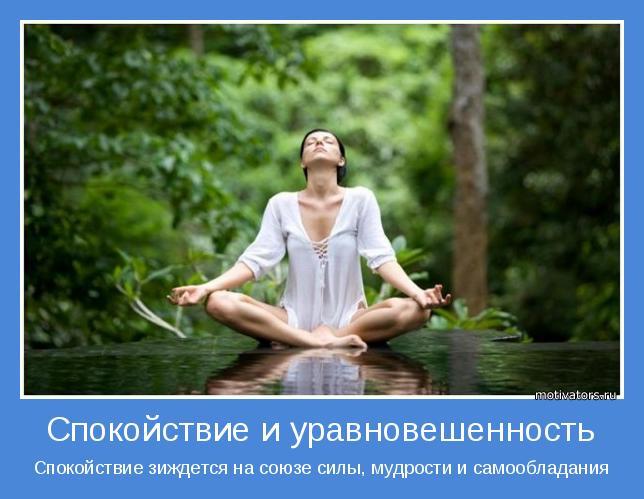 Спокойствие зиждется на союзе силы, мудрости и самообладания