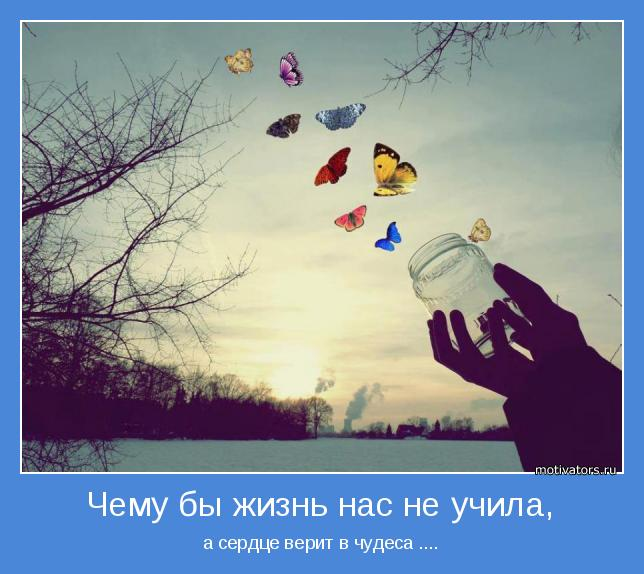 чему бы жизнь нас не учила а сердце верит в чудеса: