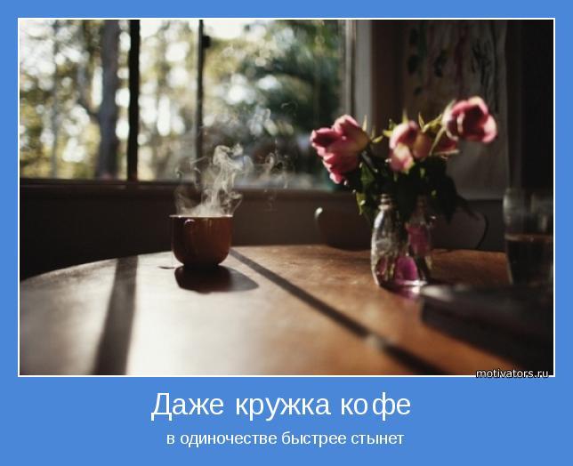 в одиночестве быстрее стынет