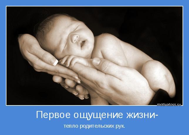тепло родительских рук.