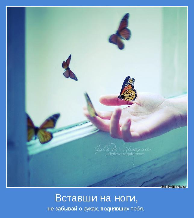 не забывай о руках, поднявших тебя.