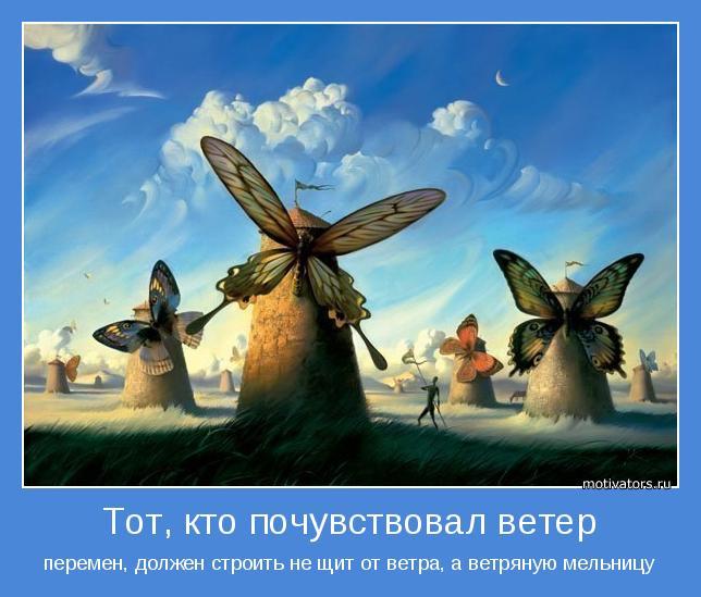 перемен, должен строить не щит от ветра, а ветряную мельницу