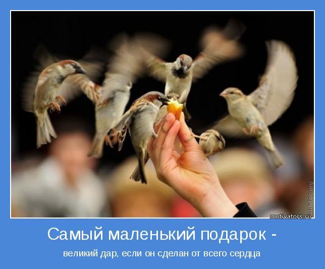 великий дар, если он сделан от всего сердца