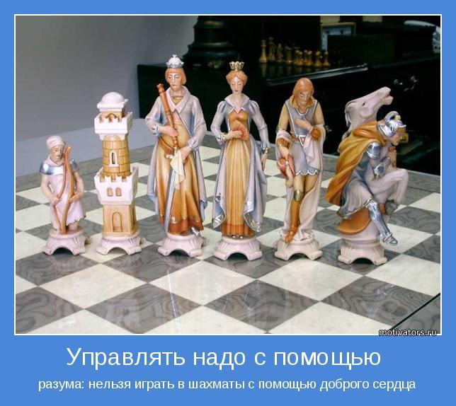 разума: нельзя играть в шахматы с помощью доброго сердца