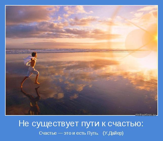 Счастье — это и есть Путь.   (У.Дайер)