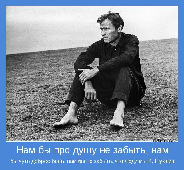бы чуть добрее быть, нам бы не забыть, что люди мы В. Шукшин