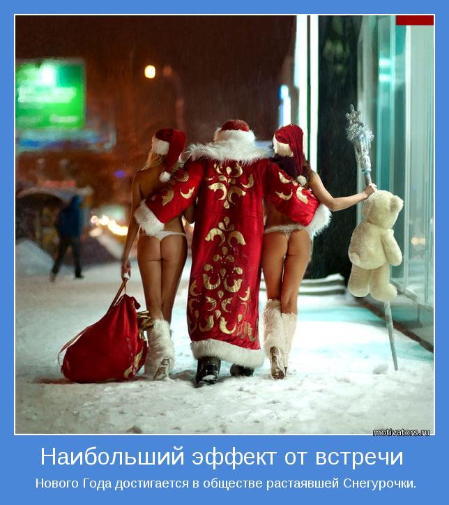 Нового Года достигается в обществе растаявшей Снегурочки.
