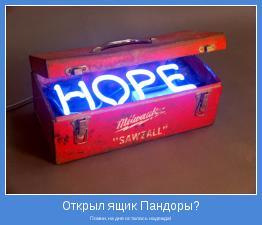 Помни, на дне осталась надежда!