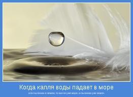 или пылинка-в землю, то капля уже море, а пылинка уже земля.