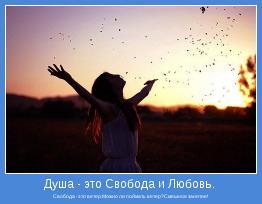 Свобода -это ветер.Можно ли поймать ветер?Смешное занятие!
