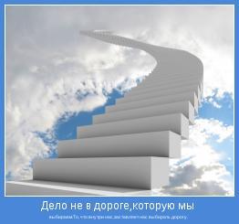 выбираем.То, что внутри нас,заставляет нас выбирать дорогу.