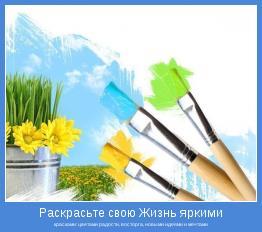 красками: цветами радости, восторга, новыми идеями и мечтами