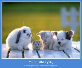 от кого ты родился, а в том, с кем ты дружишь...