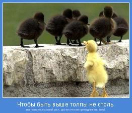 важно иметь высокий рост, достаточно не принадлежать к ней.