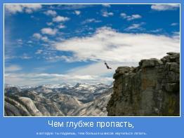 в которую ты падаешь, тем больше шансов научиться летать.