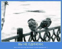 если у вас есть кому рассказать о своём одиночестве. :)