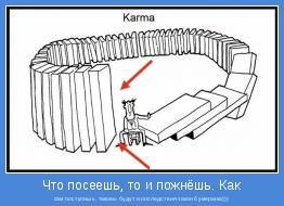 сам поступишь, таковы будут и последствия-закон бумеранга)))