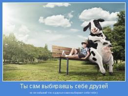 но не забывай что и друзья сами выбирают себе тебя )