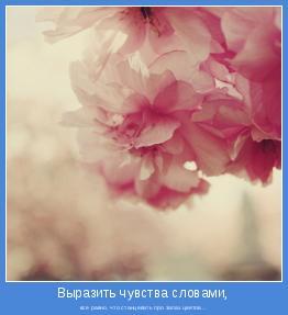 все равно, что станцевать про запах цветов…