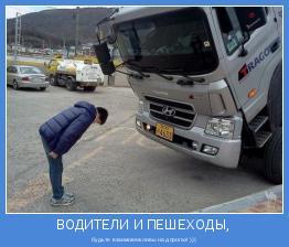 будьте взаимовежливы на дорогах! )))