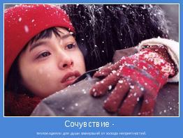 теплое одеяло для души замерзшей от холода неприятностей.