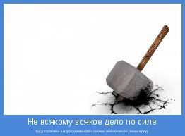 Труд полезен, когда соразмерен силам, иначе несет лишь вред.
