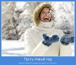 принесет Вам 365 поводов для радости и счастья;))