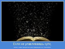 """любая, самая прекрасная книга,превращается в """"многабукв"""""""