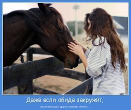 мы можем друг друга словами обнять...