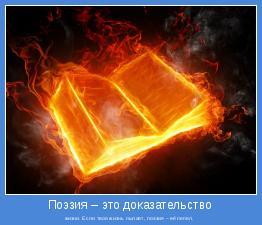 жизни. Если твоя жизнь пылает, поэзия – её пепел.