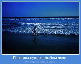 Стоя на берегу, не научишься плавать.