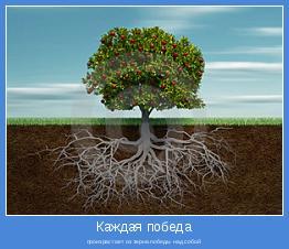 произрастает из зерна победы над собой