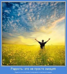 Радость-это состояние благодарного и любящего сердца