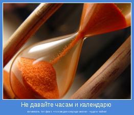 затмевать тот факт, что каждая секунда жизни - чудо и тайна!