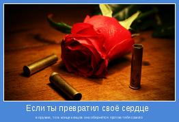 в оружие, то в конце концов оно обернётся против тебя самого