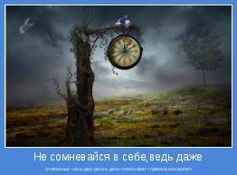 сломанные часы два раза в день показывают правильное время