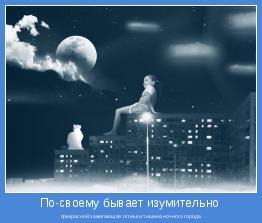 прекрасной зажигающая огоньки тишина ночного города