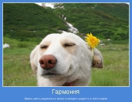 Важно уметь радоваться жизни и находить радость в себе самом