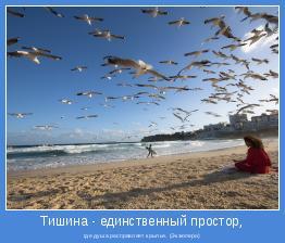 где душа расправляет крылья. (Экзюпери)