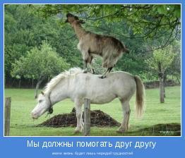 иначе жизнь будет лишь чередой трудностей