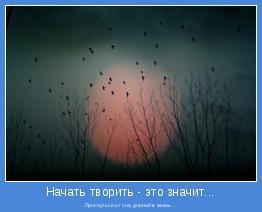 Проснуться от сна длиной в жизнь...