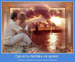толкованья, прекрасней слов двух любящих молчание!