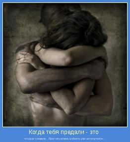 что руки сломали…Простить можно,а обнять уже не получится...