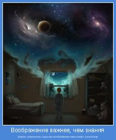 Знания ограничены,тогда как воображение охватывает целый мир