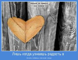 печали, поймешь чем живо серце